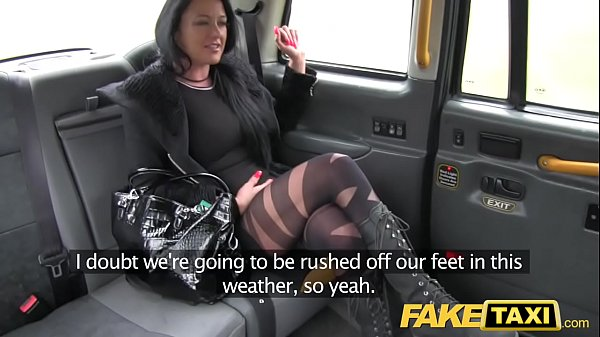 Fake Taxi Local escort fucks taxi man on her way to a client