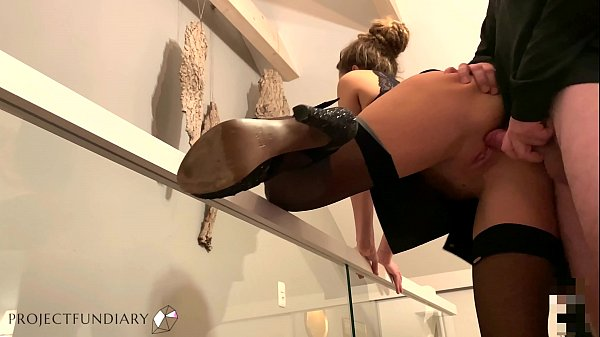 beauty in sexy leather skirt used doggy - projectfundiary