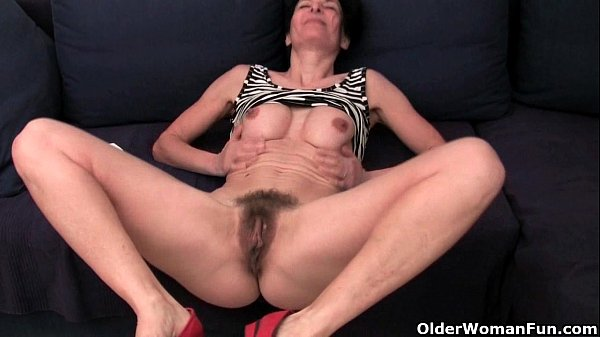 Older women soaking their cotton panties with p...