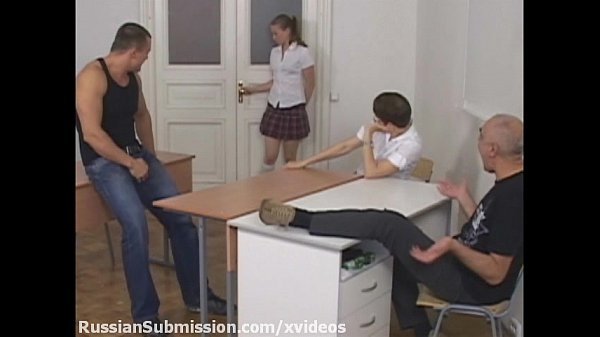 Russian student girl meets a pack of b. guys and gets humiliated