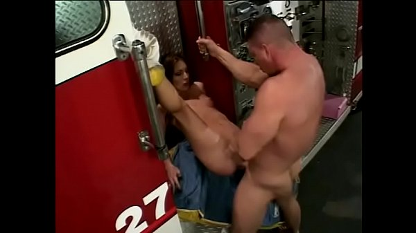 Brunette with perfect ass gets drilled from behind by fireman on the fire truck Thumb