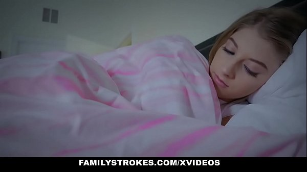 FamilyStrokes - Cuddling and Fucking Scared Stepdaughter (Alyce Anderson) While Wife s.