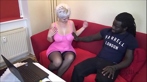 Black Boy wigh MONSTER COCK Fucks German Houswife Thumb