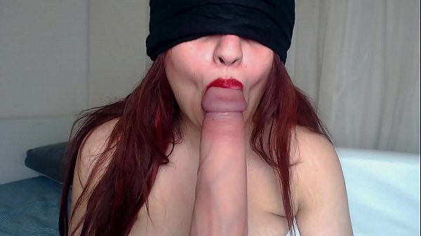 BLINDFOLDED ONLYFANS GIRL SUCKING STRANGER'S HUGE DICK ! Thumb