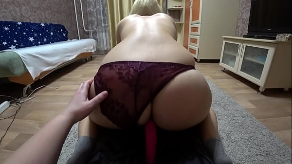 Lesbian jumps astride a girlfriend and shakes gorgeous PAWG Homemade fetish and hairy pussy close up POV