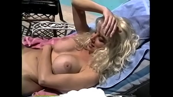 Smoking hot blonde and brunette lesbians fuck by the pool with toys