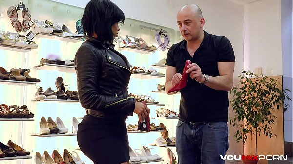 YOUMIXPORN Interactive Hardcore interracial fuck - Big ass ebony enchantress Canela Skin fucks for free shoes and gets cum on her feet