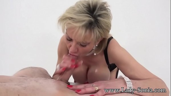 Lady Sonia meets twitter follower and tit fucks...