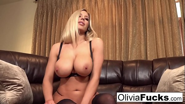 Olivia does a Titty Worship Jerk off Instructional video