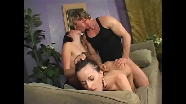 Sexy brunette Sarah Jade works on innocent MILF while she gets fucked