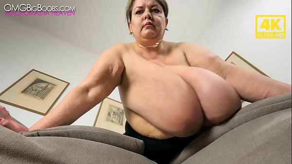 russian bbw shakes her massive tits