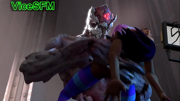 Sombra from overwatch fucked by a monster