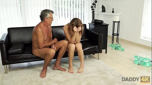 DADDY4K. Boy catches classy GF cheating on him with his handsome dad