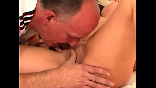 Young wife fucked hard by big cock of her father-in-law