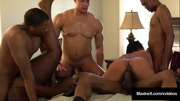 Busty Asian Sensation Maxine X Does Crazy Orgy With 4 Dicks & 1 BBW!