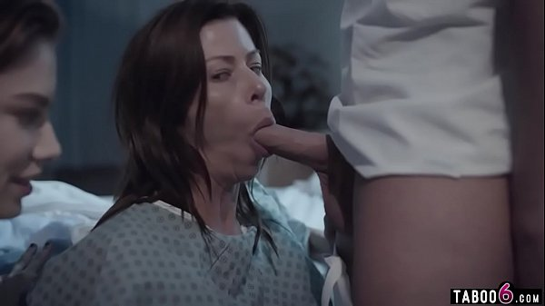 Huge boobs troubled MILF in a 3some with hospital staff