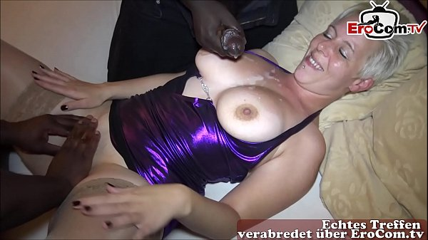 german mother make private threesome with natural boobs and big black cock