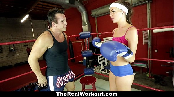 TheRealWorkout - Horny Brunette (Stella Daniels) Fucked in The Gym