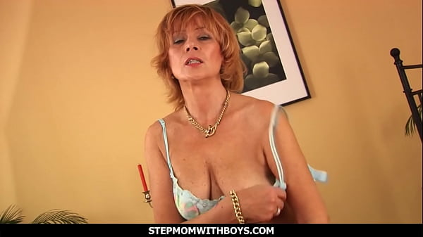 StepmomWithBoys - Mature Mom Having A Taste Of Her Stepson's Cock