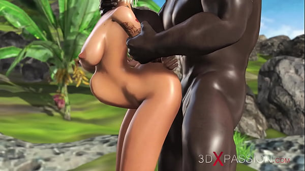3dxpassion.com. Sweet schoolgirl dreams to have sex with a black man on a lost island