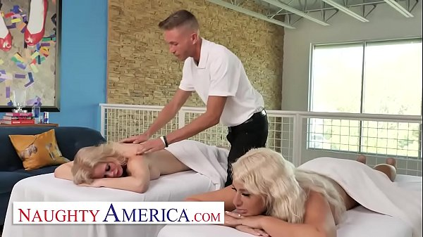 Naughty America - Casca Akashova and London River get a full service from their masseur Thumb