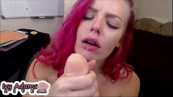 Ivy Adams Deepthroats, Gags and Squirts Live