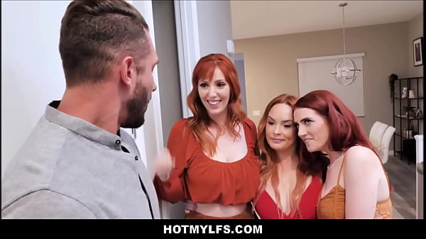 Teen Redhead Step Daughter Aria Carson & Both Her Big Tits MILF Step Mom's Orgy With New Boyfriend Thumb