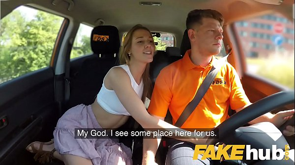 Fake Driving School Horny minx Alexis Crystal d...