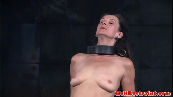 Whipped mature submissive gets bound Thumb