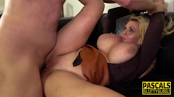 Belted milf in bondage gets anally fucked
