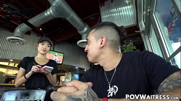 Young Asian waitress Vina Sky does anything for extra cash Thumb
