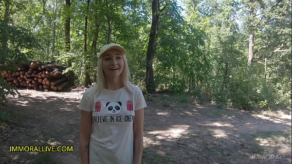 Dad & His Boy Tag Team Girl Lost in Woods! – Marilyn Sugar – Crazy Squirting, Rimming, Two Creampies - Part 1 of 2 Thumb