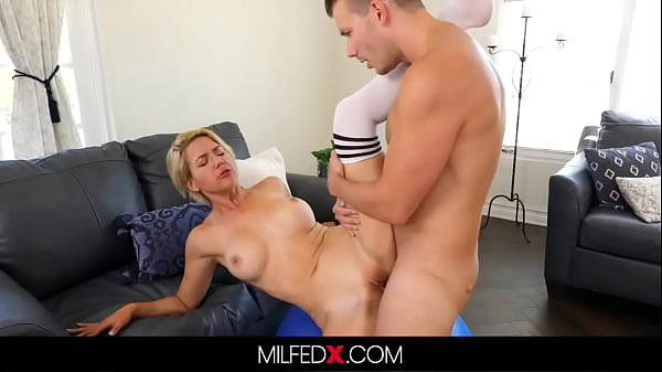 Busty Milf Fucks Her Yoga Instructor After Sucking His Big Cock