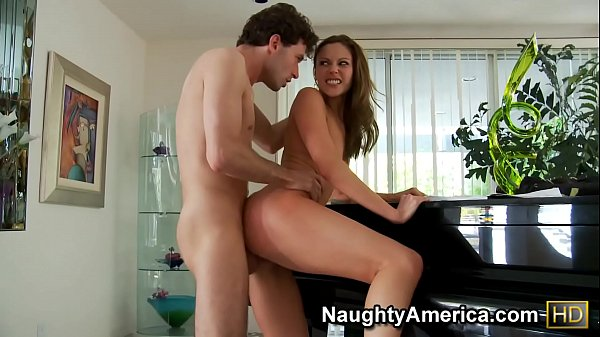 Naughty America - Find Your Fantasy Brunette Samantha Ryan fucking in the bench with her tattoos