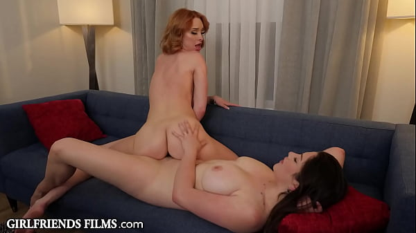 Hot Real Estate Agents Celebrate Sale With Scissoring & Pussy Licking - GirlfriendsFilms