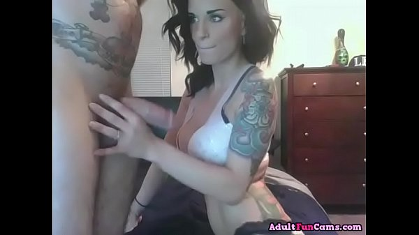 Filthy Tattooed Slut Can't Stop Sucking Dick