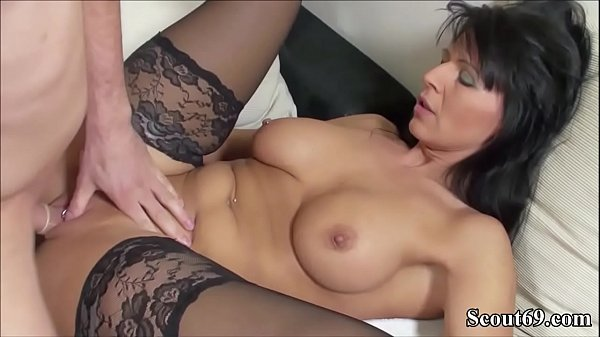 German MILF in Stockings Fuck with y. with Big ...