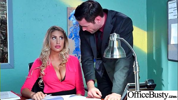 Sex Tape With Slut Busty Hot Office Nasty Girl (August Ames) video-08