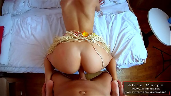 Sexy Red Head Fucking in DoggyStyle! Cum on Tits! AliceMargo.com
