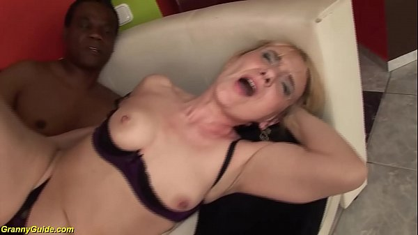 74 years old mom enjoys her first black dick