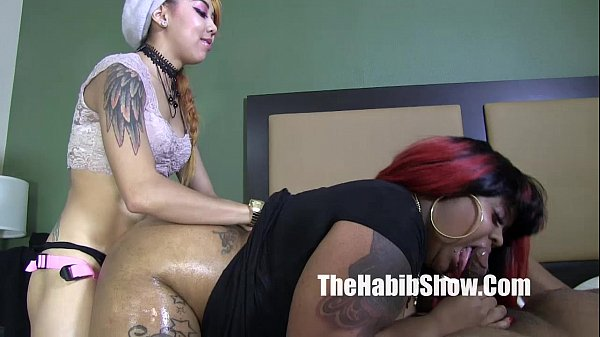 bbw ms giggles fucked by petite asian and bbc h...