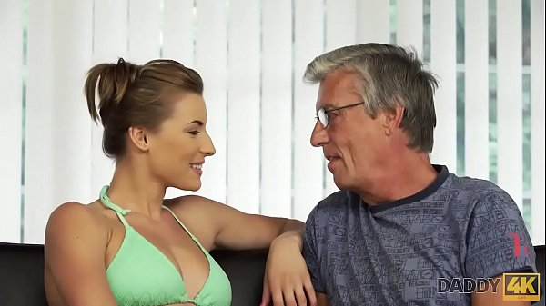 DADDY4K. Dude catches attractive girlfriend making love with his dad Thumb