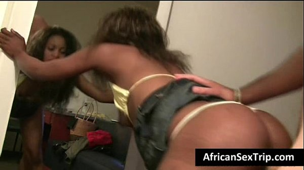 Booty African babe hardcore fucked by white Bf on homemade