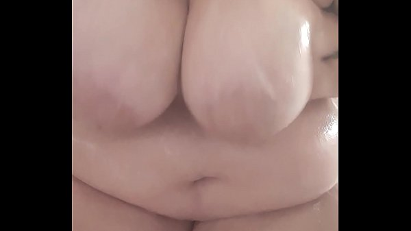 Playing with my boobs in the shower