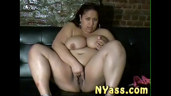 NYass.com BBW Queen Freak Dominicana from Washington heights comes overs and squirts all over the couch