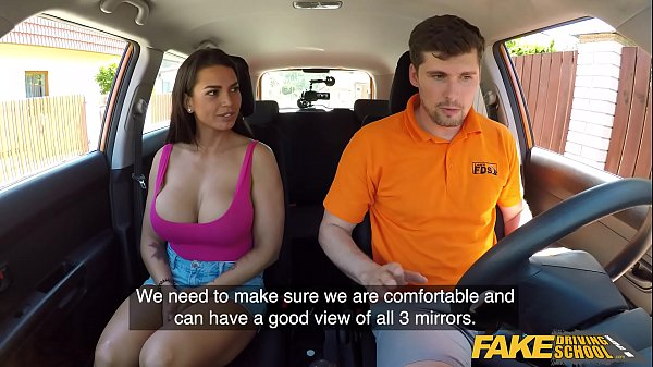 Fake Driving School Chloe Lamour gets her big t...