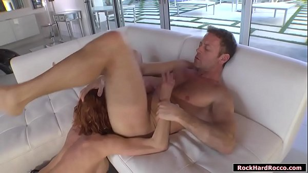 Busty babe analed by Rocco until squirts