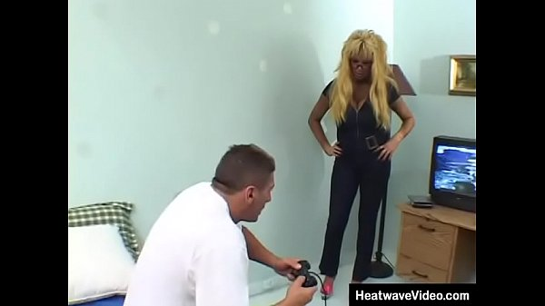 Tanned stepmom with big boobs fucked by son