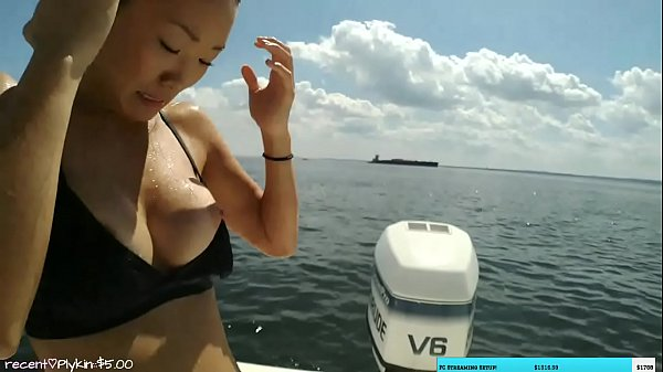 LiveStreamFails - MaryLee boob pops out on stream