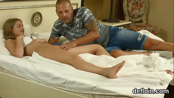 Pretty Nympho Gapes Soft Pussy And Gets Deflorated